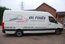 En Route delivery van